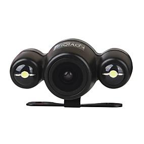 Недорогие Автоэлектроника-ziqiao универсальный hd ccd 170 градусов ночного видения водонепроницаемая камера заднего вида с 2 светодиодами