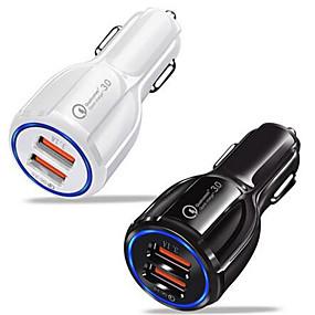 Недорогие Автомобильные зарядные устройства-qc 3.0 usb быстрое автомобильное зарядное устройство с магнитным кабелем типа samsung galaxy feel 2 s8 s9 s10 a50 a70 a20 m30 honor 20 10 9 мобильный телефон