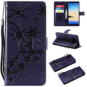 Недорогие Чехлы и кейсы для Galaxy Note 8-Кейс для Назначение SSamsung Galaxy Note 8 / Note 3 / Galaxy Note 4 Кошелек / Бумажник для карт / Флип Чехол Пейзаж Кожа PU / ТПУ