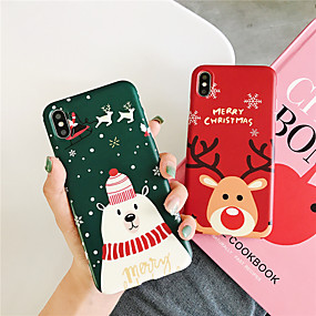 voordelige iPhone 11 Pro Max hoesjes-hoesje Voor Apple iPhone 11 / iPhone 11 Pro / iPhone 11 Pro Max Patroon Achterkant Cartoon / Kerstmis TPU