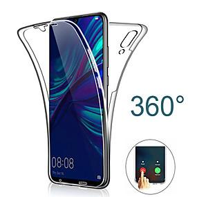 olcso Huawei tokok-360 dupla szilikon puha tpu tok a huawei y7 pro 2019 y6 pro 2019 y9 2019 p smart 2019 mate 20 pro mate 20 lite y7 2019 y6 2019 teljes test tiszta átlátszó puha tpu ütésálló burkolat