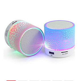 povoljno Zvučnici-a9 bluetooth zvučnik mini bežični zvučnik crack led tf usb subwoofer bluetooth zvučnici mp3 stereo audio music player
