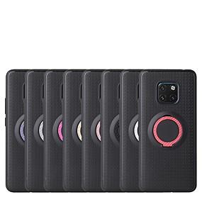 Недорогие Чехлы и кейсы для Huawei Mate-Кейс для Назначение Huawei Huawei P30 / Huawei P30 Pro / Huawei P30 Lite со стендом Кейс на заднюю панель Однотонный ПК