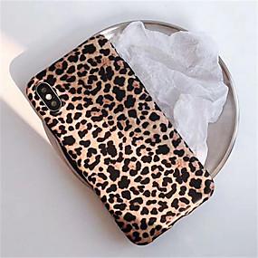 abordables Compra por modelo de teléfono-la caja del teléfono móvil imd con estampado de leopardo es adecuada para apple 6 6s 6p 6sp 7 8 7p 8p x xs xr 11 11p molienda anticaída