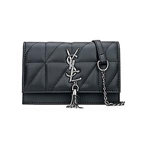 cheap Women's Bags-Women's Chain PU Crossbody Bag Solid Color Black
