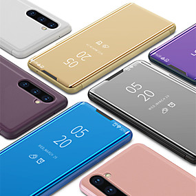 preiswerte Galaxy Note 8 Hüllen / Cover-Luxus Smart Clear View Spiegel Flip Stand Telefon Fall für Samsung Galaxy Note 10 Note 10 plus Note 9 Note 8