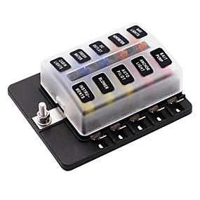 Недорогие Автоэлектроника-10 способ 12-32 В автомобиль авто лодка автобус utv лезвие блок предохранителей крышка со светодиодными индикаторами