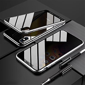 baratos Comprar por Modelo de Celular-capa magnética anti-peep para iphone 11 pro max capa de privacidade vidro dupla face proteção 360 anti-choque capa magnética anti-peep para iphone x / xs xr xs max 7 plus / 8 plus