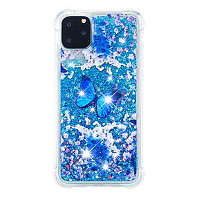 voordelige iPhone 11 Pro Max hoesjes-hoesje Voor Apple iPhone 11 / iPhone 11 Pro / iPhone 11 Pro Max Schokbestendig / Stofbestendig Achterkant Glitterglans / Kleurgradatie TPU