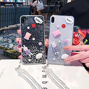 Недорогие Чехлы и кейсы для Galaxy Note 8-Кейс для Назначение SSamsung Galaxy Note 9 / Note 8 Прозрачный / С узором / Сияние и блеск Кейс на заднюю панель Прозрачный / Животное / Сияние и блеск ТПУ