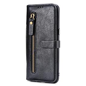 voordelige Galaxy S7 Edge Hoesjes / covers-hoesje voor samsung galaxy s9 / s9 plus / s8 plus portemonnee / kaarthouder / magnetische full body hoesjes effen gekleurd pu leer / pc