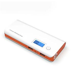 olcso 7500 - 10000 mAh-10000mah power bank kettős usb led LCD kijelző iPhone xxs max xr xiaomi samsung huawei lg htc asus nokia nagy kapacitás