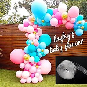 お買い得  ホリデー&パーティー デコレーション-風船アクセサリー5メートルバルーンチェーンpvcラバーウェディングパーティー誕生日の背景の装飾バルーンチェーンアーチの装飾ハッピーバースデー