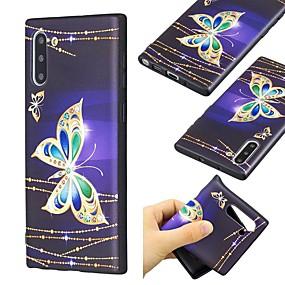 Недорогие Чехлы и кейсы для Galaxy Note 8-чехол для samsung galaxy note 9 / note 8 / galaxy note 10 ультратонкий / рисунок с задней крышкой бабочка тпу для samsung galaxy note 10 plus
