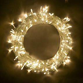 olcso BRELONG-BRELONG® 10 m Fényfüzérek 100 LED SMD 0603 Meleg fehér / RGB / Fehér Parti / Dekoratív / Összekapcsolható 220-240 V / 110-120 V 1db / IP65