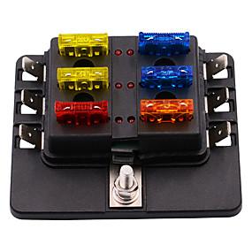 voordelige Auto-alarmen-12-30 v 6-weg auto auto boot bus utv mes zekeringkast blok deksel met led-indicatoren