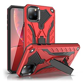 voordelige iPhone 11 Pro Max hoesjes-schokbestendig standaard voor telefoonstandaard voor iPhone 11 pro / iphone 11 pro max rubberen armor hybride pc harde hoes voor iPhone 11 siliconen TPU-hoes