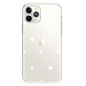 voordelige iPhone 11 Pro Max hoesjes-hoesje Voor Apple iPhone 11 / iPhone 11 Pro / iPhone 11 Pro Max Ultradun / Transparant / Patroon Achterkant Hart TPU