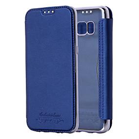 Недорогие Чехлы и кейсы для Galaxy Note 8-чехол для samsung galaxy s9 / s9 plus / s8 plus держатель карты / металлизация / магнитный чехол для тела сплошной цвет / блестящий блеск искусственная кожа / шт