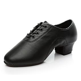olcso Napi akciók-Fiú / Lány Dance Shoes Műbőr Modern cipők / Salsa cipők / Szamba cipők Félcipő / Magassarkúk Vastag sarok Személyre szabható Fekete