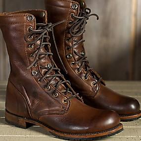 cheap Women's Shoes-Women's Boots Comfort Shoes Flat Heel Round Toe PU Mid-Calf Boots Fall & Winter Brown
