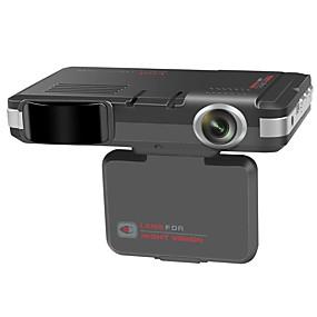 Недорогие Видеорегистраторы для авто-два в одном электронный регистратор вождения собаки автомобиля радар мобильное устройство предупреждения о скорости англо-русский двойной голосовой вещатель