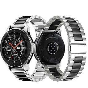 povoljno Oprema za pametni sat-metalni remen za ručni sat od nehrđajućeg čelika za Samsung galaxy sat 46mm / zupčanik s3 classic / rubna narukvica zamjenjiv narukvicu