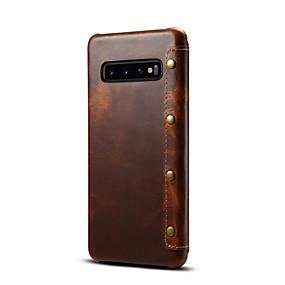 Недорогие Чехлы и кейсы для Galaxy Note 8-Кейс для Назначение SSamsung Galaxy S9 / S9 Plus / S8 Бумажник для карт Чехол Однотонный Настоящая кожа