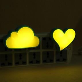 رخيصةأون مصابيح ليد مبتكرة-1PC الصمام ليلة الخفيفة / جدار التوصيل نايتليت / ضوء الليل الذكية دس بالطاقة للأطفال / كارتون <5 V