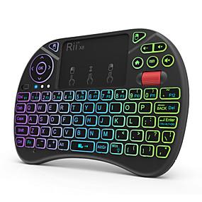olcso Egér & Billentyűzetek-Rii X8 Vezeték nélküli 2,4 GHz-es Air Mouse Minii billentyűzet Mini érintőpaddal Több színű háttérvilágítás 71 pcs Kulcsok