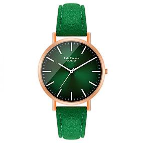 ieftine Cuarț ceasuri-Pentru femei Quartz Quartz Stl Modă Ceas Casual Analog Mov Trifoi / Un an / PU piele / Un an / Jinli 377