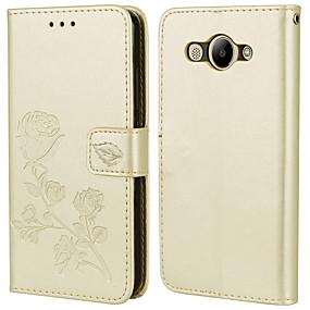 Недорогие Чехлы и кейсы для Huawei Honor-Кейс для Назначение Huawei Honor 7X / Honor 6X / Honor 6A Бумажник для карт / Флип Чехол Однотонный / Цветы Кожа PU