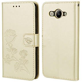 voordelige Huawei Honor hoesjes / covers-hoesje Voor Huawei Honor 7X / Honor 6X / Honor 6A Kaarthouder / Flip Volledig hoesje Effen / Bloem PU-nahka