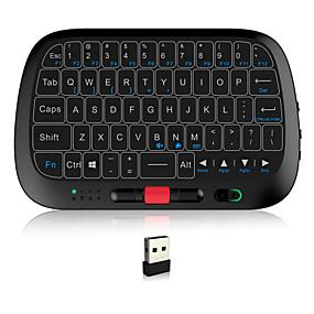 olcso Billentyűzetek-Rii i5 Vezeték nélküli 2,4 GHz-es Air Mouse Minii billentyűzet Mini érintőpaddal Fehér háttérvilágítás 63 pcs Kulcsok
