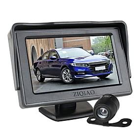 Недорогие Автоэлектроника-Ziqiao 4,3-дюймовый складной автомобильный монитор TFT ЖК-дисплей камеры обратная камера парковочная система для автомобильных мониторов заднего вида NTSC Pal