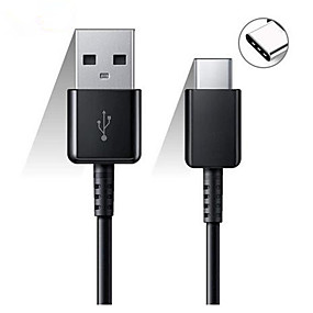 cheap Google-2PCS Original Samsung 120cm USB Type C Cable Fast Charge Data Line for Galaxy S8 S9 Plus S10 Plus A5 A7 2017 Note 8 XIAOMI A3 5 6