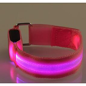 hesapli Egzersiz ve Fitness-LED Koşu Kol Bandı Yansıtıcı Bant Yansıtıcı Kemer için