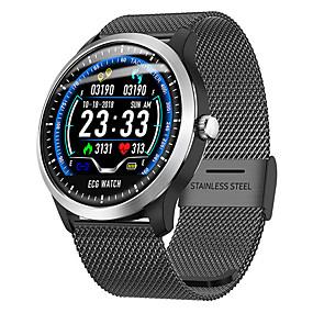 זול נשים שעונים דיגיטליים-בגדי ריקוד נשים שעון דיגיטלי יום יומי אופנתי שחור כסף חום סגסוגת דמוי עור דיגיטלי שחור כסף חום עמיד במים בלותוט' Smart 30 m 1set דיגיטלי
