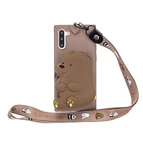 Недорогие Чехлы и кейсы для Galaxy Note 8-Кейс для Назначение SSamsung Galaxy Note 9 / Note 8 / Galaxy Note 10 Кошелек / С узором Кейс на заднюю панель 3D в мультяшном стиле ТПУ