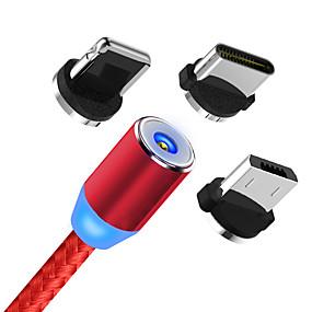 abordables Google-cable usb magnético carga rápida cable usb tipo c cargador de imán cargador de datos cable micro usb cable de teléfono móvil cable usb