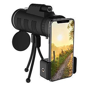 olcso Mobiltelefon kamera-telefonlencse 40x60-as zoom monokuláris távcső hatótávolságú kamera kemping túra horgászlencse iránytű telefon klip állvány