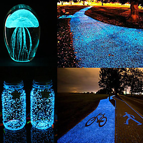 cheap Holiday & Party Decorations-DIY Luminous Glow Gravel Noctilucent Sand Fish Tank Aquarium Fluorescent Particles Party Decorations