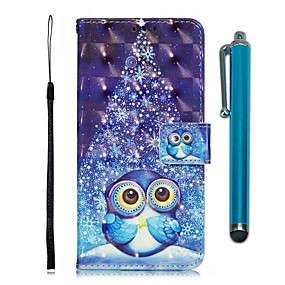 voordelige Galaxy S7 Hoesjes / covers-hoesje Voor Samsung Galaxy S9 / S9 Plus / S8 Plus Portemonnee / Kaarthouder / met standaard Volledig hoesje dier PU-nahka