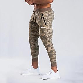 povoljno Muške hlače-Muškarci Sportski Sportske hlače Hlače - Maskirni Sportski Sive boje Žutomrk US32 / UK32 / EU40 US34 / UK34 / EU42 US36 / UK36 / EU44