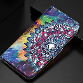 voordelige Galaxy S7 Hoesjes / covers-hoesje Voor Samsung Galaxy S9 / S9 Plus / S8 Plus Portemonnee / Kaarthouder / met standaard Volledig hoesje Bloem PU-nahka