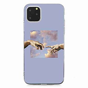 voordelige iPhone 11 Pro hoesjes-hoesje Voor Apple iPhone 11 / iPhone 11 Pro / iPhone 11 Pro Max Transparant / Patroon Achterkant Landschap TPU