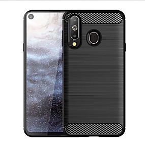 Недорогие Чехлы и кейсы для Galaxy A8-Кейс для Назначение SSamsung Galaxy A7 (2017) / A8+ 2018 / A8 Защита от удара / Ультратонкий Кейс на заднюю панель Полосы / волосы ТПУ