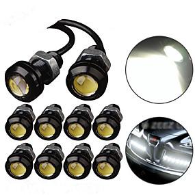 Недорогие Подсветка для номерного знака-Светодиодный орлиный глаз свет drl дневного света строб противотуманные фары 9 Вт 12 В 18 мм задний фонарь парковки сигнальная лампа водонепроницаемый