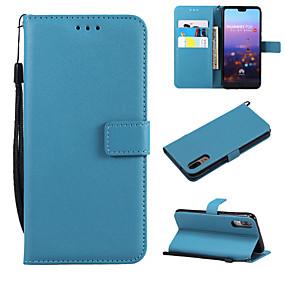 voordelige Huawei Honor hoesjes / covers-hoesje voor apple iphone xs / iphone xr / iphone x portemonnee / kaarthouder / flip full body hoesjes effen gekleurd pu leer / tpu