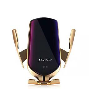 رخيصةأون حامل سيارة-السحر كليب اللاسلكية شحن الهاتف المحمول دعم المواقع الذكية التلقائي التعريفي منفذ الهواء دعم الهاتف المحمول سيارة